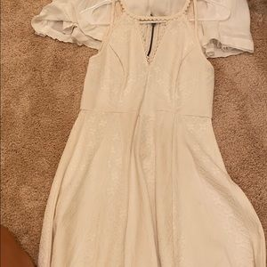 White free people dress with zipper back